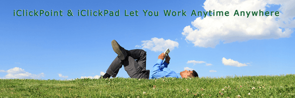 iClickPad lets users work everywhere on iPad and Tablets